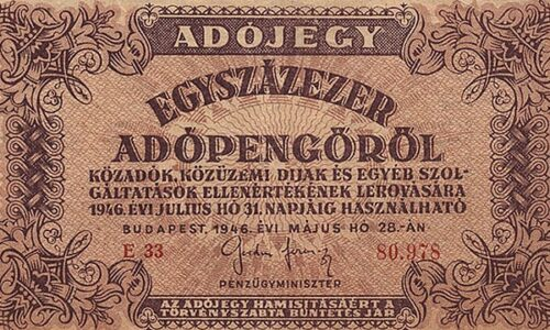 Adópengő adójegy bevezetése