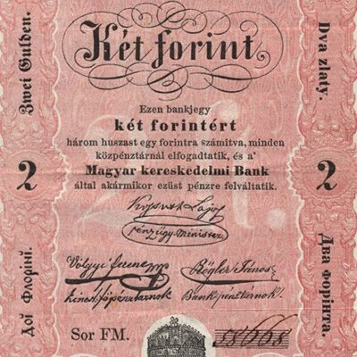 2 forintos bankjegy 1848